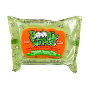 Boogie Wipes Saline Nose Wipes Flex Pack, Fresh Scent 30ct