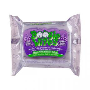 Boogie Wipes Saline Nose Wipes Flex Pack, Great Grape 30ct