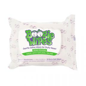 Boogie Wipes Saline Nose Wipes Flex Pack, Simply Unscented 30ct