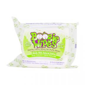 Boogie Wipes Saline Nose Wipes Flex Pack, Minty Menthol 30ct