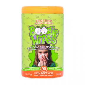 Boogie Wipes Saline Nose Wipes Canister, Fresh Scent 90ct