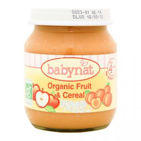 Babynat Puree - Organic Fruit & Cereal