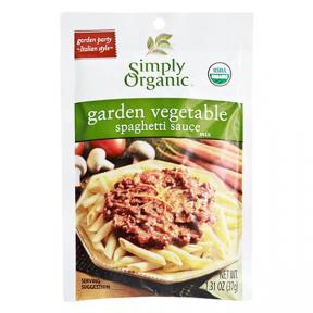 Simply Organic Garden Vegetable Spaghetti Sauce