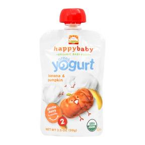 Happy Pouch ( Stage 2 ) Greek Yogurt Banana & Pumpkin 99 gr