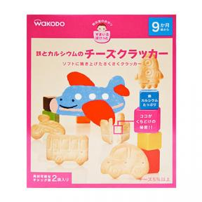 Wakodo Baby Snacks - Iron And Calcium Fortified Cheese Crackers