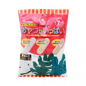Wakodo Baby Snacks - Soft Rice Crackers Assorted Pack