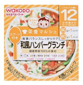 Wakodo Japanese Style Cooked Rice And Teriyaki Hamburger Steak