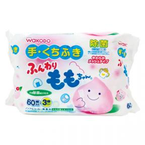 Wakodo Baby Hand And Mouth Wet Tissue (60Sheets x 3)