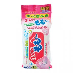 Wakodo Baby Hand And Mouth Wet Tissue (20Sheets x 2)