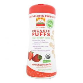Happy Baby Organic Puffs - Strawberry