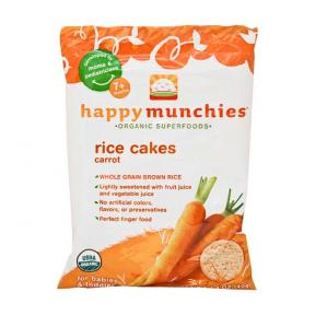 Happy Baby Happy Munchies - Rice Cakes Carrot 40g