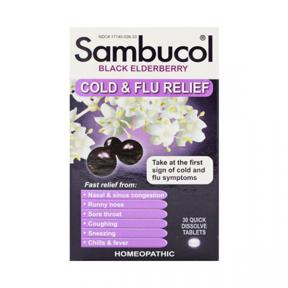 Sambucol Black Elderberry Cold & Flu Relief 30 tabs