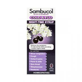 Sambucol Black Elderberry Cold & Flu Relief Syrup 4oz