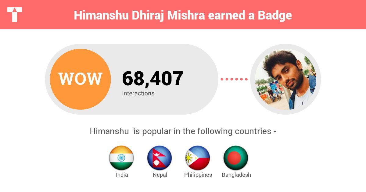 Profile pic of Himanshu Dhiraj Mishra (himstar)