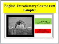 English Introductory Course cum Sampler