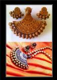 Tirupur Advanced Terracotta jewellery making class by Nakshatra terracotta jewellery