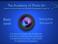 Basic Photography Classes from 2nd June, 2013