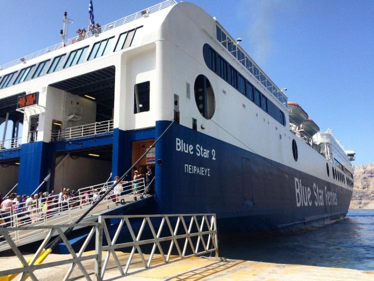 Ferry to Santorini