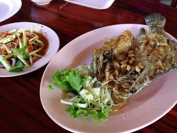 ปลาทับทิมทอดน้ำปลา