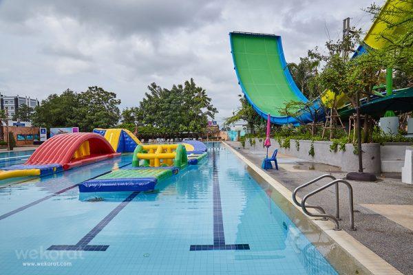 เครื่องเล่นใหม่ Aqua Jump Station ในสวนน้ำ แฟนตาเซีย ลากูน เดอะมอลล์โคราช