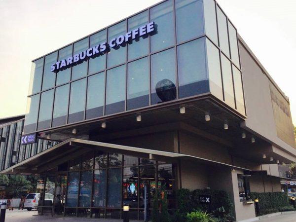ตัวอย่าง Starbucks สาขา ฟู้ดวิลล่า ราชพฤกษ์ ที่มาในรูปแบบ Glass House