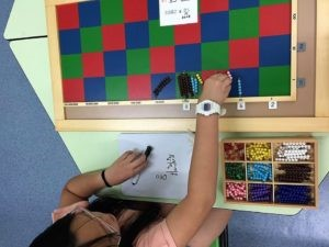 Special needs child learner using geometry to help manage visual spatial problems