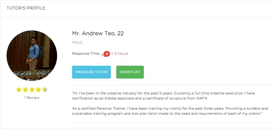 Andrew Teo Tueetor Profile