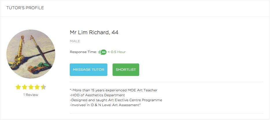 Lim Richard Tueetor Profile