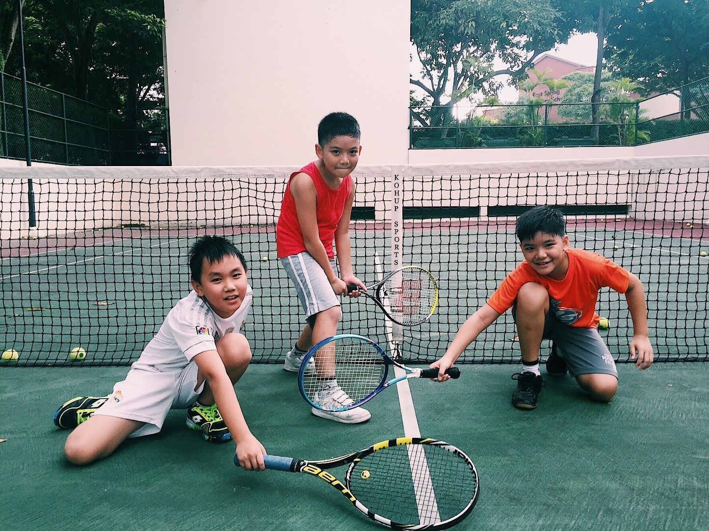 Young tennis players, students of Whipper Tennis Academy