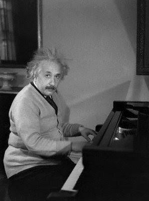 Albert Einstein on Piano