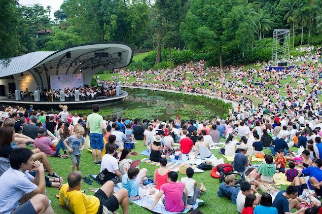 Free concert at Singapore Botanic Gardens Music