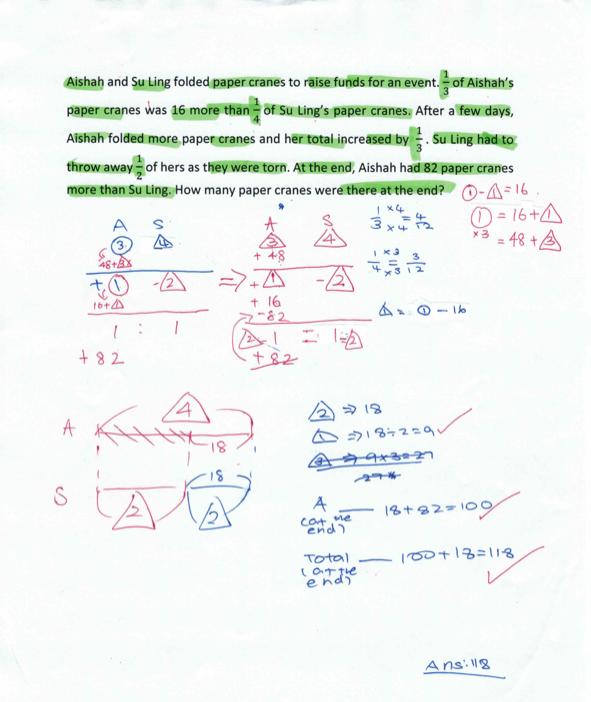 PSLE Maths problem1