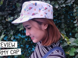 รีวิว ARMY CAP หมวกทรงทหารญี่ปุ่น ลายนกสุดน่ารัก จากแบรนด์ Chapter2 (รีวิว #14)