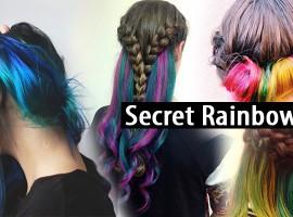 เบื่อสีผมธรรมดาๆกันหรือยัง? มาทำผมสีรุ้งแบบ Secret Rainbow Hair กันเถอะ! (สไตล์ #95)