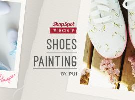 ShopSpot Workshop : ออกแบบและ เพ้นท์รองเท้า ผ้าใบแคนวาส Shoes Painting – 26/06/2016 (Workshop#33)