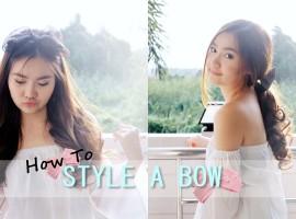 How To : แต่งผมสวยด้วย Style a Bow พร้อมไอเดียมิกซ์เสื้อผ้าให้เข้ากัน (ShopSpot Blogger #19)