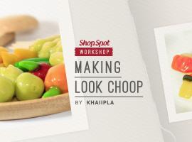 ShopSpot Workshop : Making Lookchoop สอนทำขนมลูกชุบสูตรชาววัง สไตล์ไทยโมเดิร์น Workshop#23