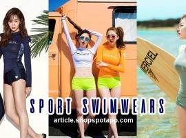 อัพเดทเทรนด์ ชุดว่ายน้ำ 'แนวสปอร์ต' ที่สาวเกาหลีกำลังอินมากกก (สไตล์ #161)