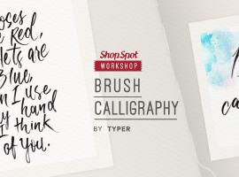 ShopSpot Workshop : เขียนอักษรด้วย ปากกาหัวพู่กัน Calligraphy for Starter By Typer – 25/06/2016 (Workshop#32)