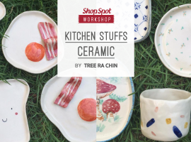 ShopSpot Workshop : Kitchen Stuffs Ceramic Painting by Treerachin 02/07/2016 (Workshop#34)