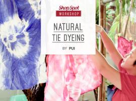 ShopSpot Workshop : ผ้ามัดย้อม จากสีธรรมชาติ Natural Tie Dyeing – 24/07/2016 (Workshop#38)