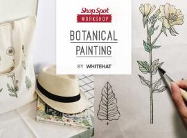 ShopSpot Workshop : เพนท์กระเป๋าผ้าด้วยลายเส้นของตัวเอง Botanic Painting Tote bag by WHITEHAT (Workshop#38)