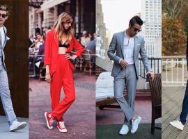 Perfect Match ชุดสูท+รองเท้าผ้าใบ แต่งตัวแบบทางการแต่ไม่ทิ้งกลิ่นอายความเท่ (สไตล์#203)