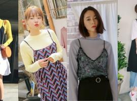รวม 70 ไอเดีย แต่งตัวฮิปๆเทรนด์เกาหลี 'สายเดี่ยวทับเสื้อ TWO LAYERS' (สไตล์ #229)