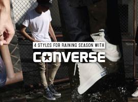 """4 สไตล์ รับมือหน้าฝนกับ รองเท้าผ้าใบ """"Converse"""" Counter Climate (สไตล์ #257)"""