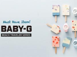 ห้ามพลาด! นาฬิกาโทนพาสเทลสุดน่ารัก Baby G Beach Traveler Series