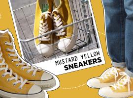 """เทรนด์สี """"มัสตาร์ด"""" แรงไม่หยุดกับ 5 แบรนด์ดังที่จับเอาสีมัสตาร์ดมาเล่นกับ Sneaker"""