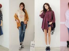 """เสื้อสไตล์ """"Over Shirt"""" ได้ลุคสาวแบ๊วที่แอบเซอร์ ด้วยความคิวท์แบบสาวเกาหลี (สไตล์ #283)"""