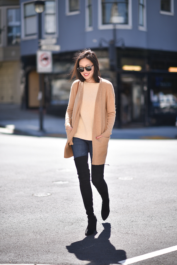 http://justthedesign.tumblr.com/post/129424342197/ann-taylor-wears-tall-over-the-knee-boots-with-simple