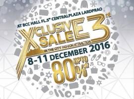 เตรียมพบกับ Xclusive Sale in The City ครั้งที่ 3 งานเซลล์ที่ยิ่งใหญ่ที่สุดแห่งปี